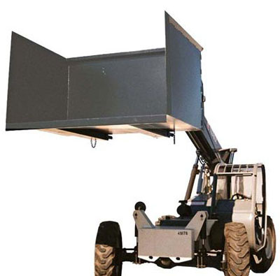 telehandler trash hopper