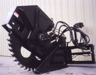 skid steer rock saw